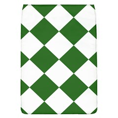 Harlequin Diamond Green White Removable Flap Cover (Large)