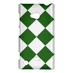 Harlequin Diamond Green White Nokia Lumia 720 Hardshell Case