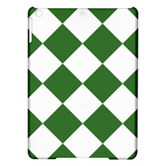 Harlequin Diamond Green White Apple iPad Air Hardshell Case