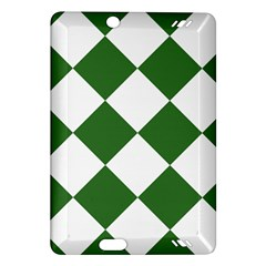 Harlequin Diamond Green White Kindle Fire HD (2013) Hardshell Case