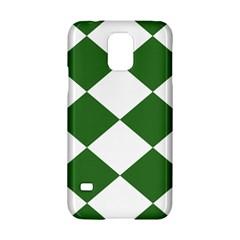 Harlequin Diamond Green White Samsung Galaxy S5 Hardshell Case
