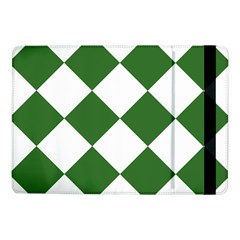 Harlequin Diamond Green White Samsung Galaxy Tab Pro 10.1  Flip Case