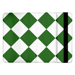 Harlequin Diamond Green White Samsung Galaxy Tab Pro 12.2  Flip Case