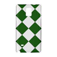Harlequin Diamond Green White Samsung Galaxy Note 4 Hardshell Case