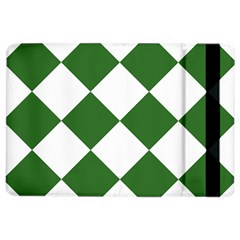 Harlequin Diamond Green White Apple Ipad Air 2 Flip Case
