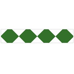 Harlequin Diamond Green White Flano Scarf (large)
