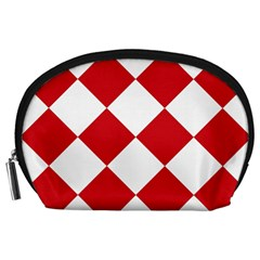 Harlequin Diamond Red White Accessory Pouch (large)