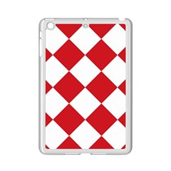 Harlequin Diamond Red White Apple Ipad Mini 2 Case (white)