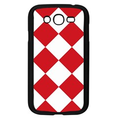 Harlequin Diamond Red White Samsung Galaxy Grand Duos I9082 Case (black)