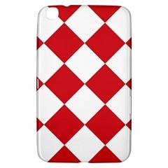 Harlequin Diamond Red White Samsung Galaxy Tab 3 (8 ) T3100 Hardshell Case