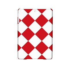 Harlequin Diamond Red White Apple iPad Mini 2 Hardshell Case