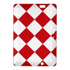 Harlequin Diamond Red White Kindle Fire HDX 8.9  Hardshell Case