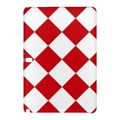 Harlequin Diamond Red White Samsung Galaxy Tab Pro 10.1 Hardshell Case