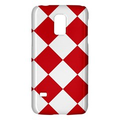 Harlequin Diamond Red White Samsung Galaxy S5 Mini Hardshell Case
