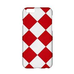 Harlequin Diamond Red White Apple iPhone 6 Hardshell Case