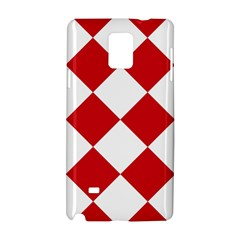Harlequin Diamond Red White Samsung Galaxy Note 4 Hardshell Case