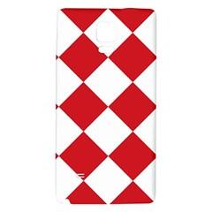 Harlequin Diamond Red White Samsung Note 4 Hardshell Back Case