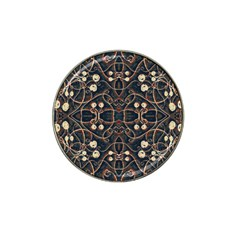 Victorian Style Grunge Pattern Golf Ball Marker 4 Pack (for Hat Clip)