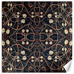 Victorian Style Grunge Pattern Canvas 16  X 16  (unframed)