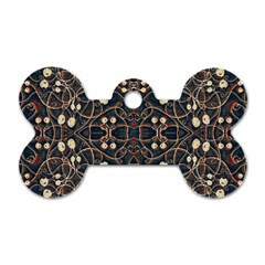 Victorian Style Grunge Pattern Dog Tag Bone (two Sided)