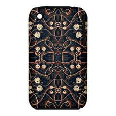Victorian Style Grunge Pattern Apple Iphone 3g/3gs Hardshell Case (pc+silicone)