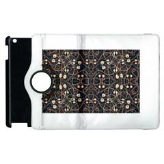Victorian Style Grunge Pattern Apple iPad 2 Flip 360 Case
