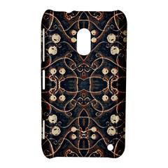 Victorian Style Grunge Pattern Nokia Lumia 620 Hardshell Case
