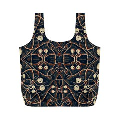 Victorian Style Grunge Pattern Reusable Bag (M)