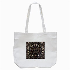 Victorian Style Grunge Pattern Tote Bag (White)