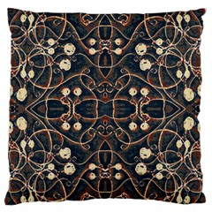 Victorian Style Grunge Pattern Large Flano Cushion Case (Two Sides)