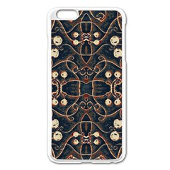 Victorian Style Grunge Pattern Apple Iphone 6 Plus Enamel White Case
