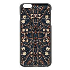 Victorian Style Grunge Pattern Apple iPhone 6 Plus Black Enamel Case