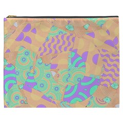 Tropical Summer Fruit Orange Lime Berry Cosmetic Bag (xxxl)