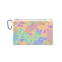 Tropical Summer Fruit Orange Lime Berry Canvas Cosmetic Bag (Small)