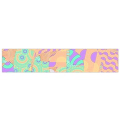 Tropical Summer Fruit Orange Lime Berry Flano Scarf (small)