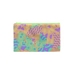 Tropical Summer Fruit Orange Lime Berry Cosmetic Bag (XS)