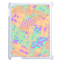 Tropical Summer Fruit Orange Lime Berry Apple Ipad 2 Case (white)