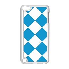 Harlequin Diamond Argyle Turquoise Blue White Apple Ipod Touch 5 Case (white)
