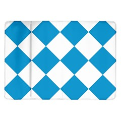 Harlequin Diamond Argyle Turquoise Blue White Samsung Galaxy Tab 10.1  P7500 Flip Case