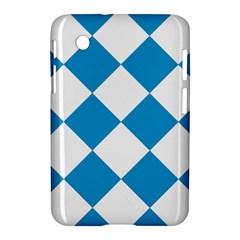 Harlequin Diamond Argyle Turquoise Blue White Samsung Galaxy Tab 2 (7 ) P3100 Hardshell Case