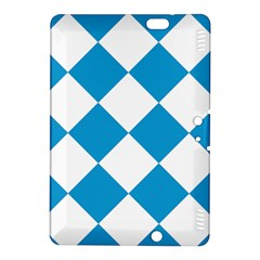 Harlequin Diamond Argyle Turquoise Blue White Kindle Fire Hdx 8 9  Hardshell Case
