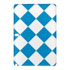 Harlequin Diamond Argyle Turquoise Blue White Samsung Galaxy Tab Pro 12.2 Hardshell Case