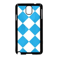 Harlequin Diamond Argyle Turquoise Blue White Samsung Galaxy Note 3 Neo Hardshell Case (black)