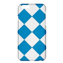 Harlequin Diamond Argyle Turquoise Blue White Apple iPhone 6 Plus Hardshell Case