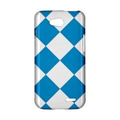 Harlequin Diamond Argyle Turquoise Blue White LG L90 Hardshell Case
