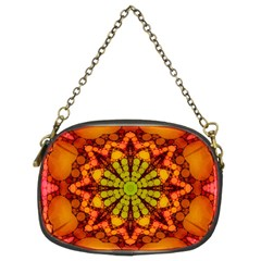 Florescent Abstract Chain Purse (two Sided)