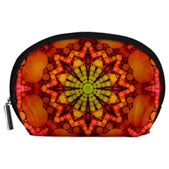 Florescent Abstract Accessory Pouch (Large)