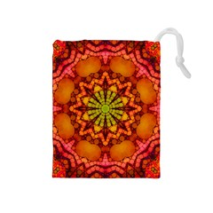Florescent Abstract Drawstring Pouch (medium)