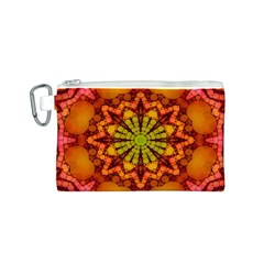 Florescent Abstract Canvas Cosmetic Bag (Small)