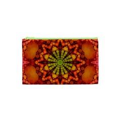 Florescent Abstract Cosmetic Bag (XS)